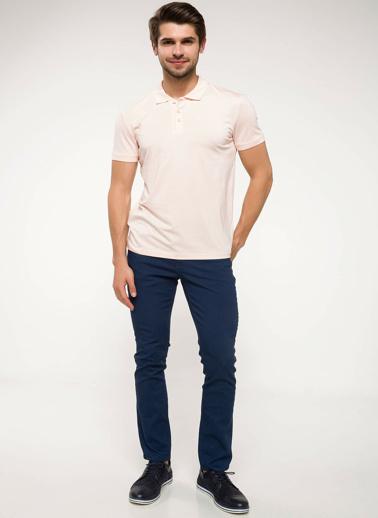 DeFacto Slim Fit Kolları Triko Bant Detaylı Polo T-shirt Pembe